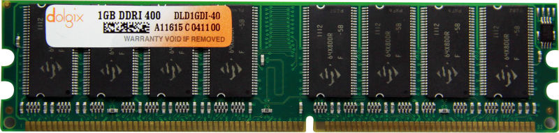 Dolgix Desktop DDR1 1 GB 400MHz PC3200 Memory Module