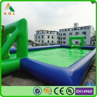 2016 amusement park inflatable game, new inflatable soap soccer field for sale