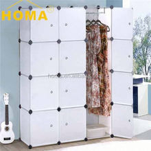 YIWU HOMA Cheap Commercial white wood wardrobe
