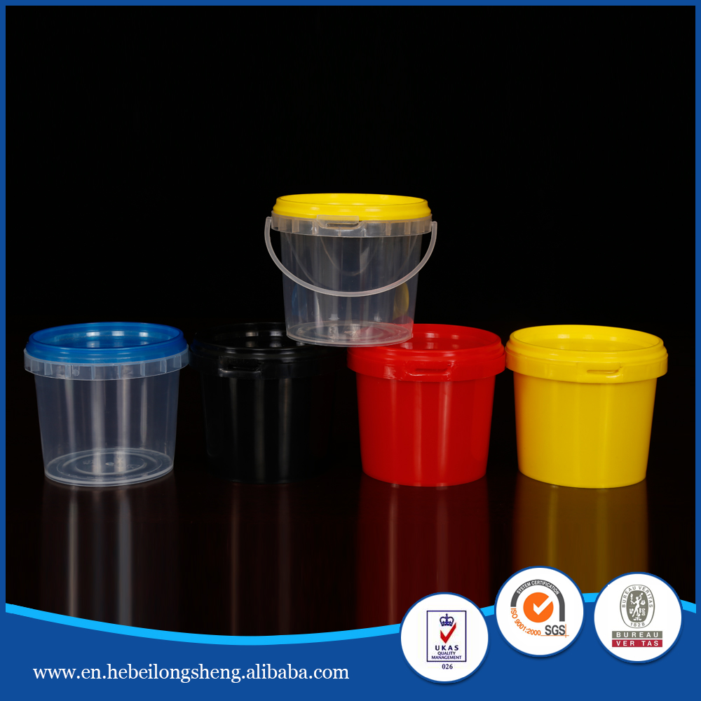250ML innocuity tasteless small color plastic bucket with lid