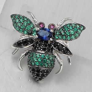 925 Silver Newest Bee Animal Earring Pendant Ring Design Gift Sets Beauty