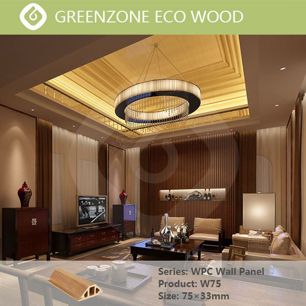 High quality green wpc for villa house non-toxic interlocking interior wall panels