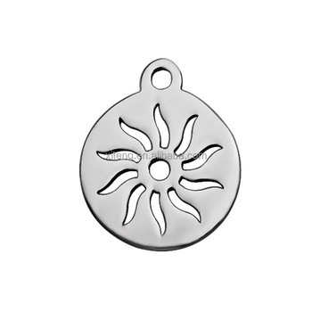 DIY Jewelry Findings Making For Necklaces & Bracelets Round Stainless Steel Lovely Floating Hollow Sunflower Charms