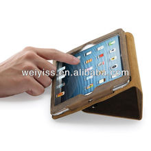 Genuine Leather Case / Cover with Built-in Stand - Support Smart Cover Function for mini ipad (Vintage Feel) - Brown