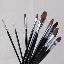 High quality long wooden handle oil painting brush for artist drawing