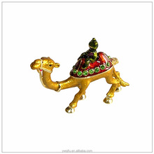 China Manufacturer Hnadmade Fashion Jeweled Metal Camel Animal Jewelry Gift Box For Thanksgiving Gifts QF2676