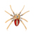 Hot Selling Animal Spider brooch pins Gold Colors And Inlay Crystal spider brooch insect jewelry