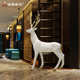Modern home decor craft supplies fiberglass large deer statues for garden decoration