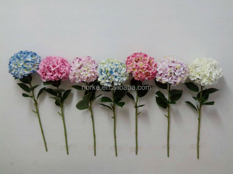 artificial white hydrangea flower, artifiicial long stem flowers