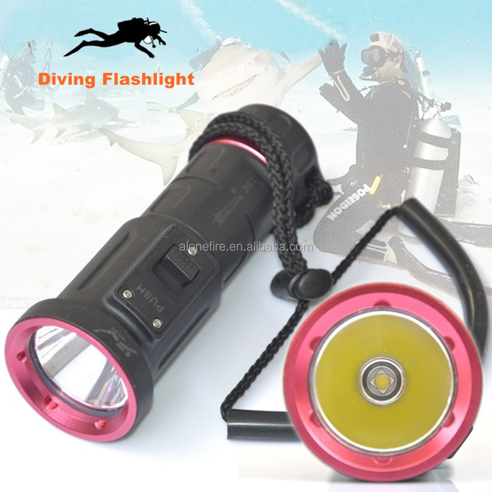 D01 <strong>Diving</strong> led Flashlight XM-L2 <strong>U2</strong> 18650 Waterproof Underwater <strong>Torch</strong> Flash LED light Lamp