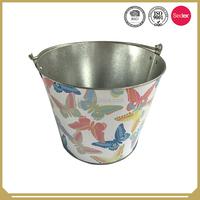 Promotional Tin Ice Bucket Customized metal ice buckets Galvanized iron ice bucket