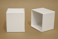 packaging Paper Box made of white cardboard paper