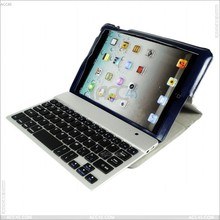 High End Leather Flip Case with Aluminum Bluetooth Keyboard for iPad Mini P-iPDMINICASE082