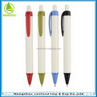 2015 hot selling plastic promotional short ballpoint pen refills