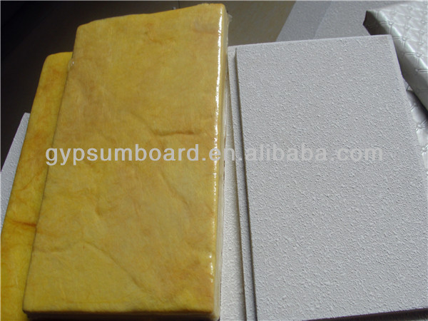 fiberglass board/acoustic wall panel / noise reduction acoustic ceiling tiles