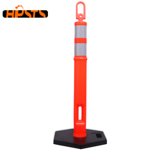 Traffic safety PE 750mm high flexible plastic road barrier
