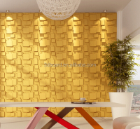 Hot sale 3d brick design pvc wallpapers home decorative gold classic wallpaper
