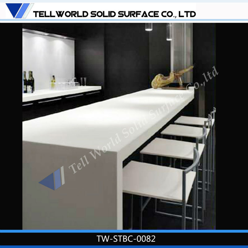 Snack bar acrylic solid surface counter top