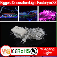 10 m 100 led red christmas bells light warm white christmas led cluster light 8 function IP44~65 with CE ROHS