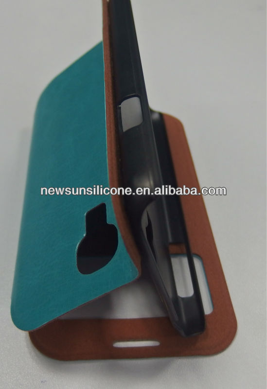 Leather Case with stander for samsung S4