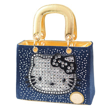 made in china online shopping HD26-010 hello kitty bag denim bag material ladies vintage bag