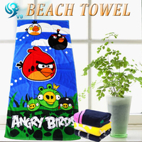 China supplier 100% cotton velour reactive printed custom film gift beach towel