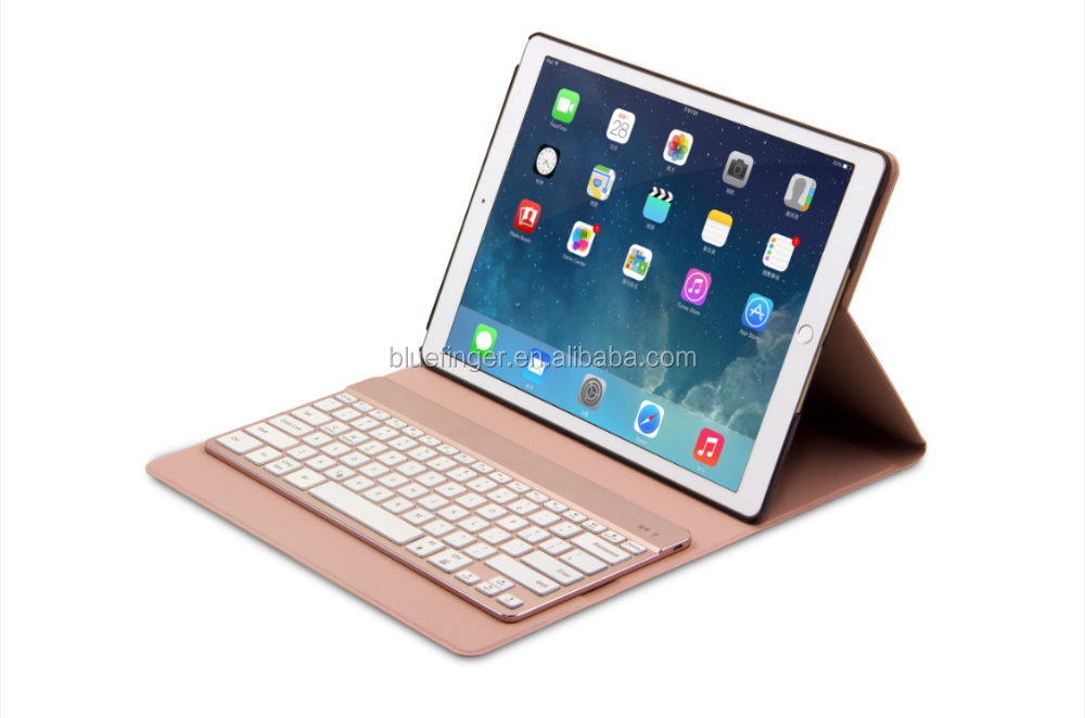 Hot sale leather case bluetooth keyboard for ipad pro 9.7inch with backlit