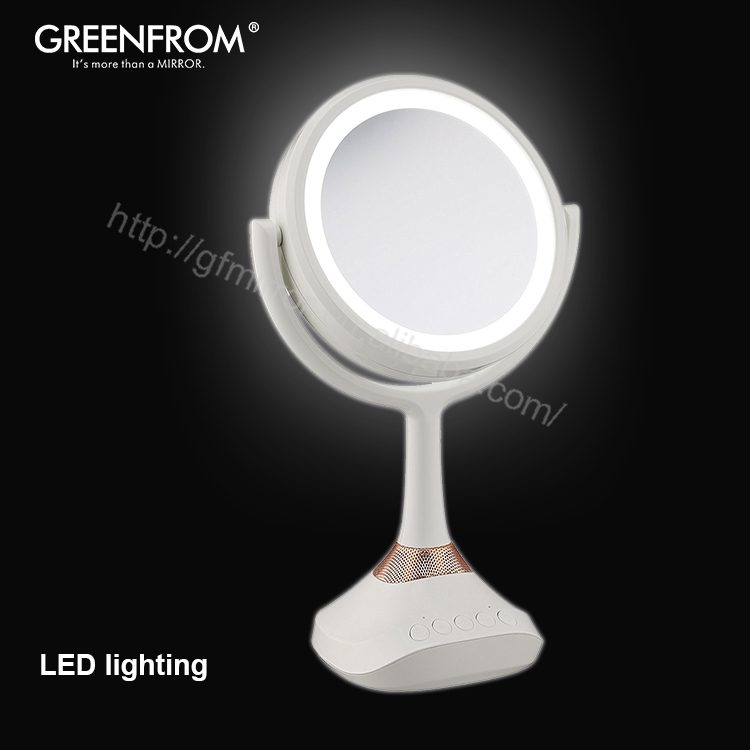 Led Pedestal Magnifying Mirrors Cordless Make Up Mirror 3D 1000 Mm, Led Over The Door Ring Light With Mirror Light 12W <strong>X10</strong>