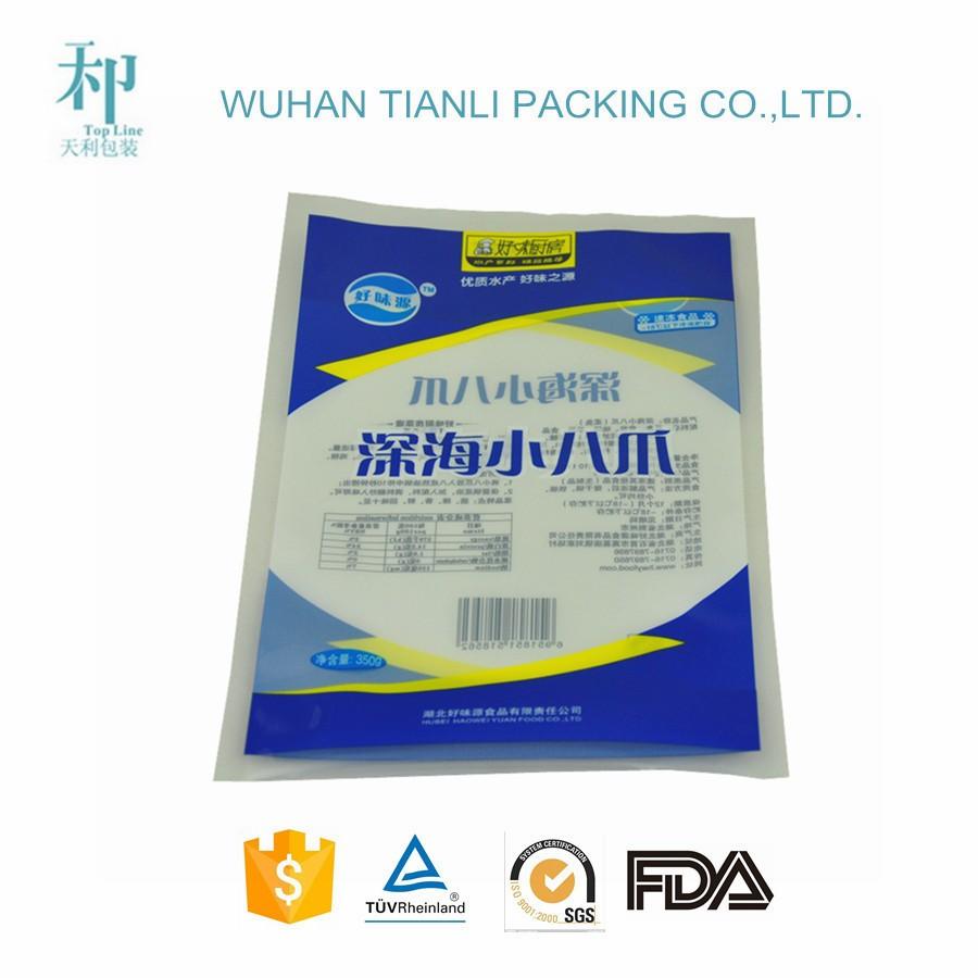 CMYK colorfull custom printed laminating frozen food packaging supplies