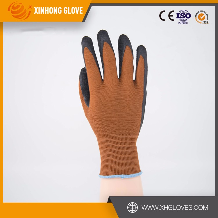 Anti cut finger protective black color industrial useful latex glove