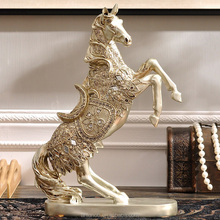 New Product Animal Figurine Quality Horse Statue Resin Craft for Ornament Home Decoration
