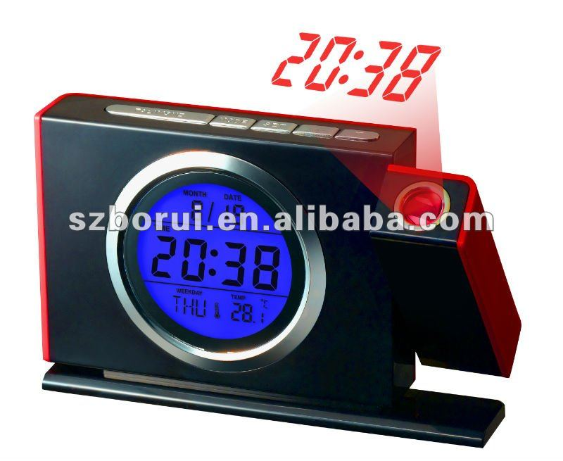 High-end produce! Talking clock with projection FM radio clockwith calendar