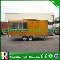 High Quality stainless steel food stall mobile stalls for fast food kiosk for snacks