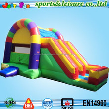 2-in-1 double slide commercial inflatable moon bouncers sale