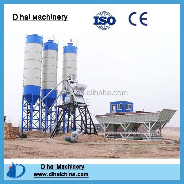 Fully Automatic HZS75 75m3/h Concret Batching Plant Exported To Philippines