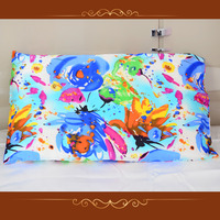 100% pure mulberry silk printing 16mm pillowcases with more than 50 printing patterns king size