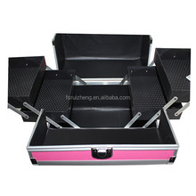 Wholesale professional soft leather makeup case