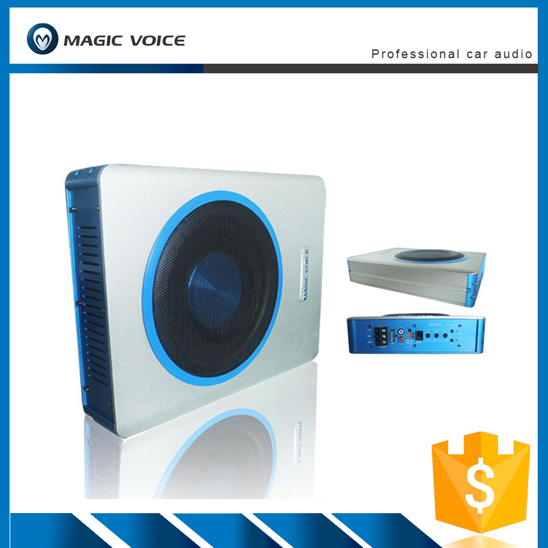 Magic voice hot selling slim under seat 8 inch car subwoofer active