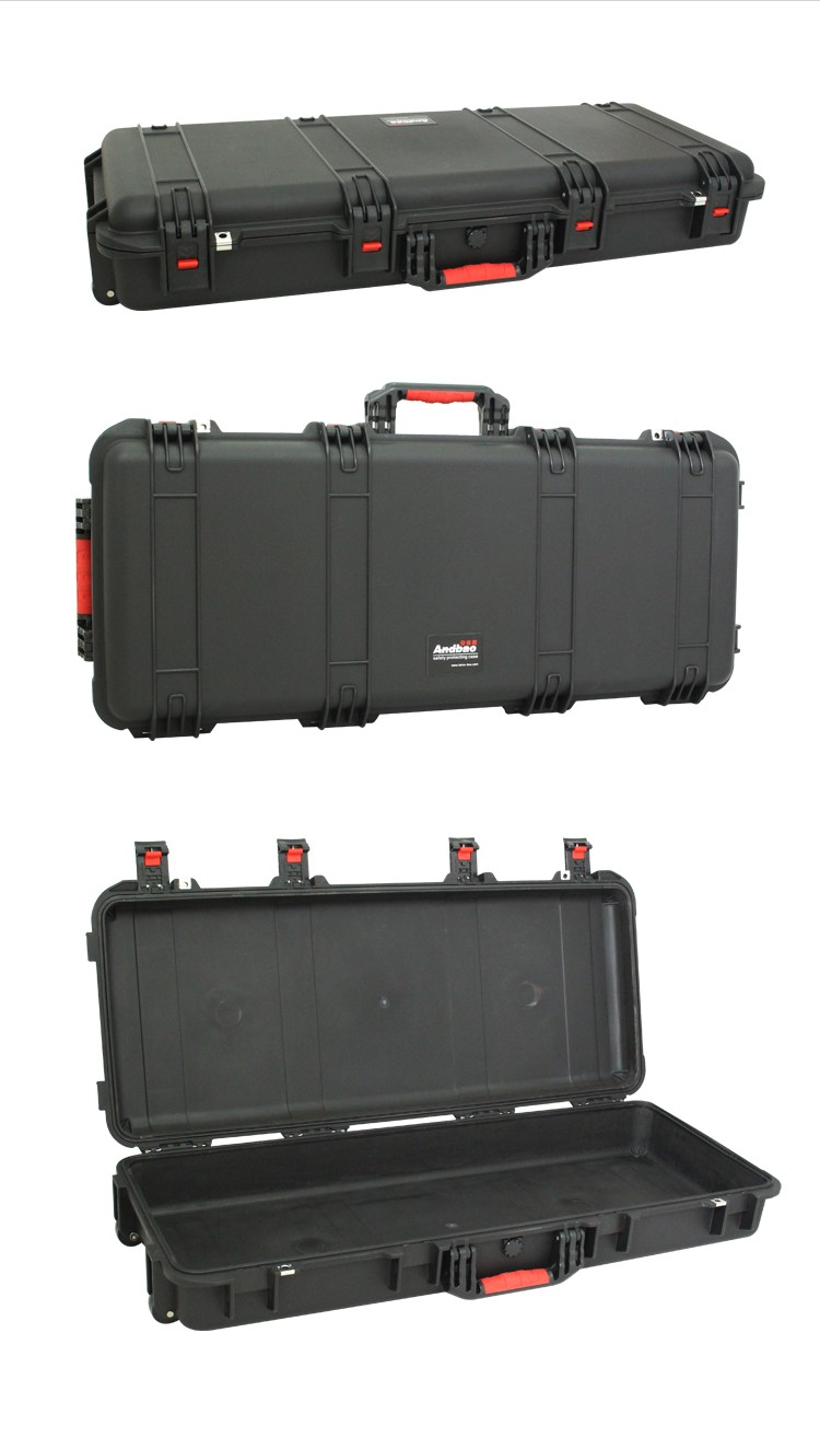 Plastic heavy duty trolley equipment case