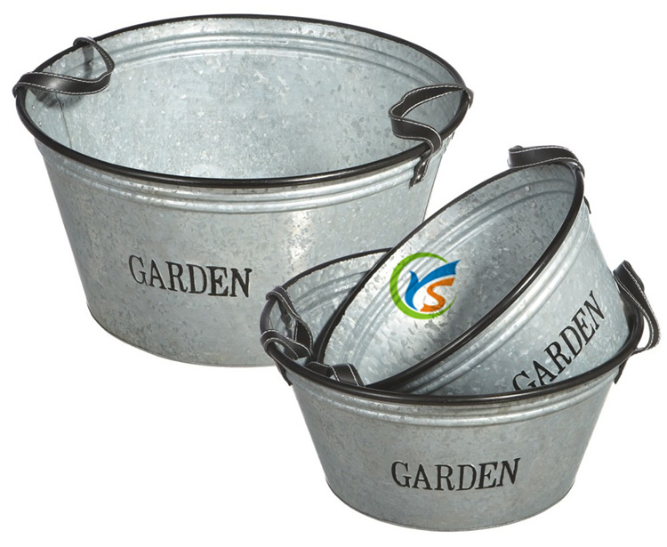 High quality garden decor perfect addition metal plant pots