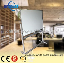 double sides Moveable reversible magnetic white board with wheels