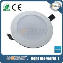 2 years warranty ultra-thin round 6 inch recessed led down light