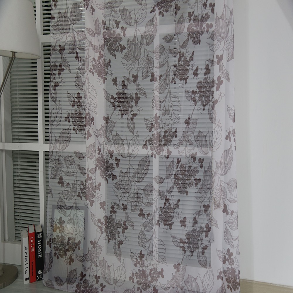 2015 Modern rideaux pattern digital printed window curtain for room divider