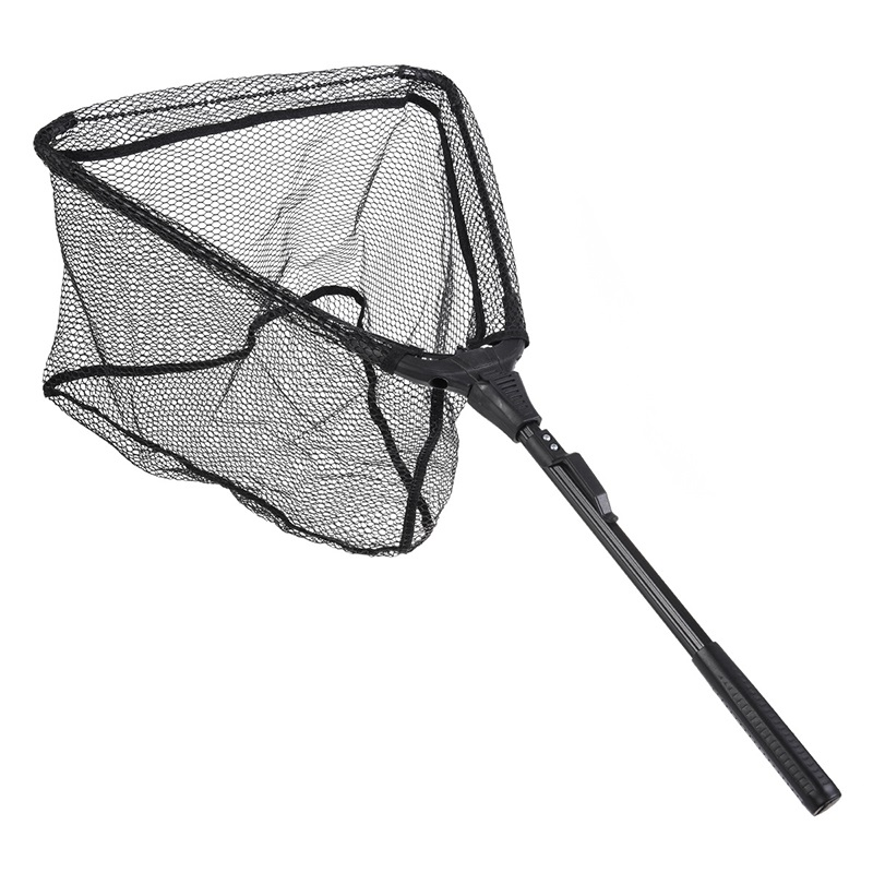 Fishing Mesh Fish Landing Folding Aluminum Handle Durable Nylon Material Mesh Fishing Tools