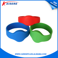 Reusable waterproof silicone RFID bracelet