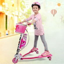 LWX-3401 trike 3 wheel baby foot childrens scooter 2 front wheels