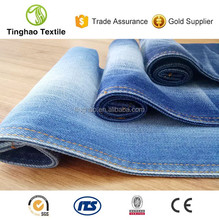 Twill indigo yarn dyed pure cotton denim jeans fabric wholesale