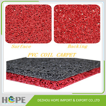 2016 hot sell Various colors high quality PVC coil door carpet,PVC coil mat