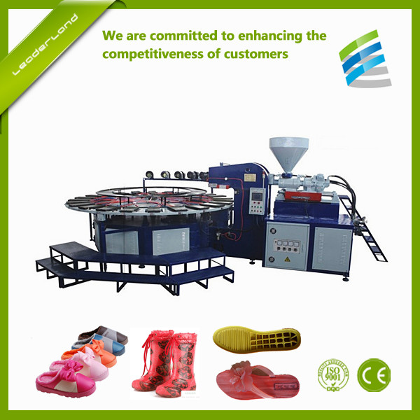 Automatic PVC Plastic Shoe Sole Boot Sandal making machine