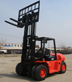 High quality powerful ISUZU engine 7 tons forklift with triple mast and side shift